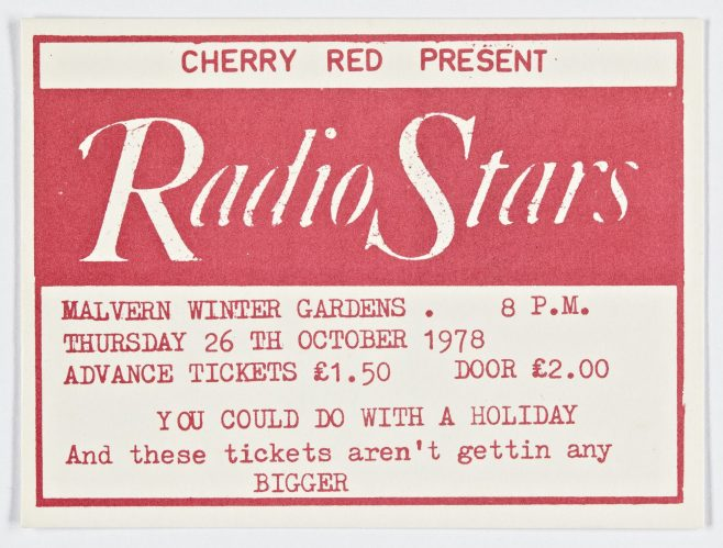Ticket for The Radio Stars at Malvern Winter Gardens   Cherry Red Promotions