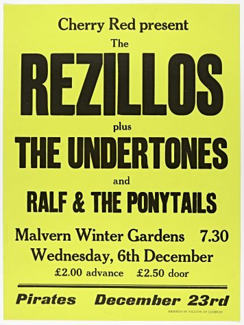 Rezillos, The Undertones, Ralph and the Ponytails, 06 December 1978 (cancelled)