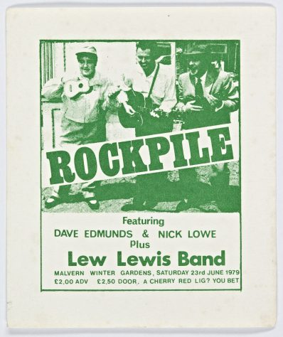 Ticket for Rockpile at Malvern Winter Gardens, 23 June 1979