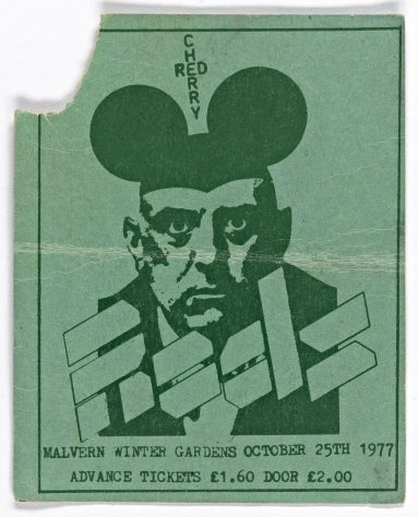 Ticket for The Rods at Malvern Winter Gardens, 25 October 1977