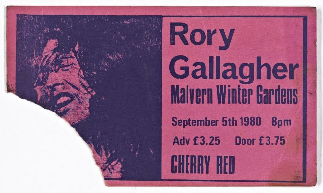 Ticket for Rory Gallagher at Malvern Winter Gardens | Cherry Red Promotions