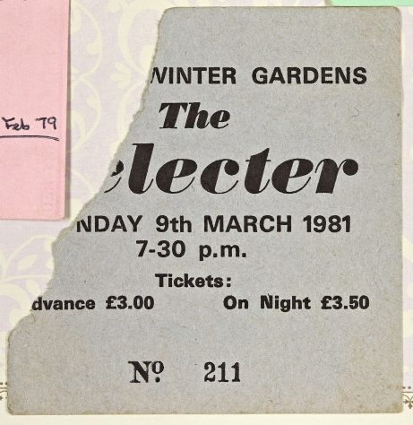 Ticket for The Selecter at Malvern Winter Gardens, 9 March 1981
