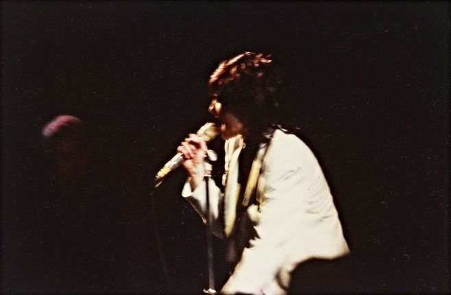 Photograph of Siouxsie and The Banshees at Malvern Winter Gardens, 15 November 1978