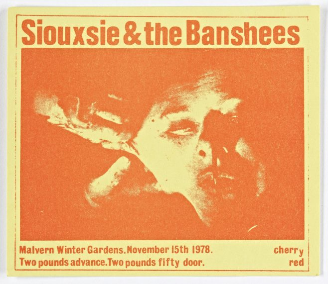 Ticket for Siouxsie and The Banshees at Malvern Winter Gardens, 15 November 1978