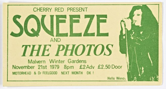 Ticket for Squeeze at Malvern Winter Gardens | Cherry Red Promotions