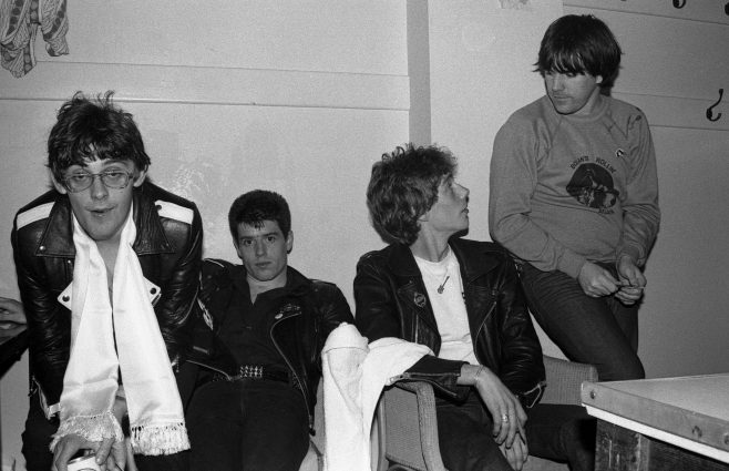 Photograph of Stiff Little Fingers at Malvern Winter Gardens, 18 July 1980
