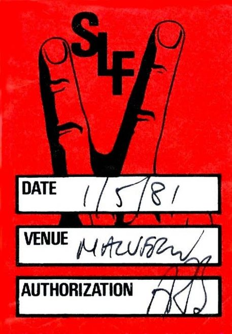 Backstage pass for Stiff Little Fingers at Malvern Winter Gardens | unknown