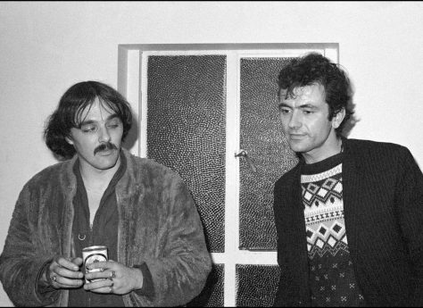 Dave Greenfield and Hugh Cornwell of The Stranglers at Malvern Winter Gardens, 6 October 1977