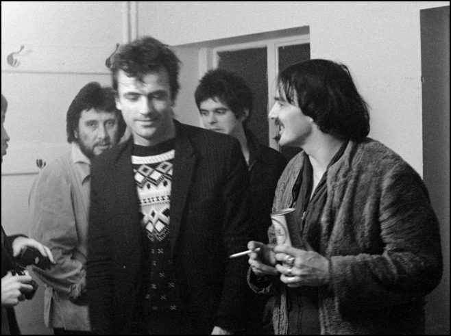 Photograph of The Stranglers at Malvern Winter Gardens, 6 October 1977