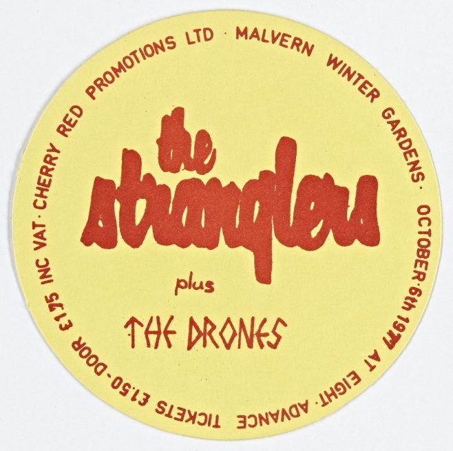 Ticket for The Stranglers at Malvern Winter Gardens, 6 October 1977