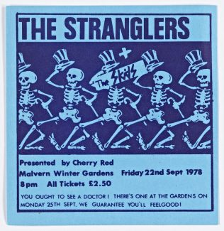 Ticket for The Stranglers at Malvern Winter Gardens | Cherry Red Promotions