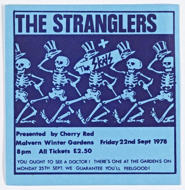 Ticket for The Stranglers at Malvern Winter Gardens, 22 September 1978