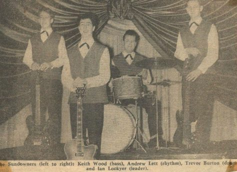 Newspaper cutting from the Malvern Gazette about The Sundowners at Malvern Winter Gardens, 18 August 1962