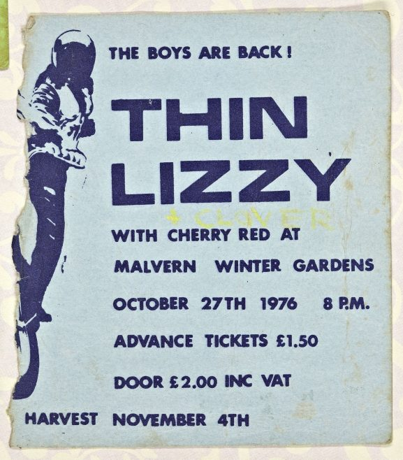 Ticket for Thin Lizzy at Malvern Winter Gardens | Cherry Red Promotions