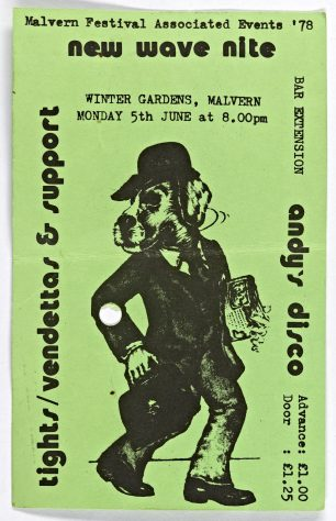 Ticket for The Tights at Malvern Winter Gardens, 5 June 1978