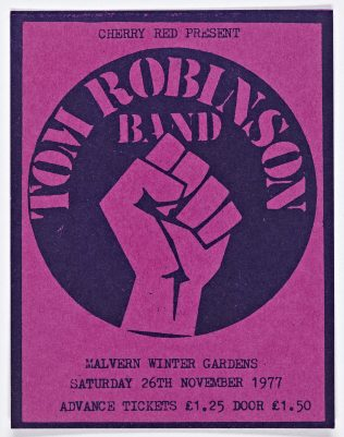 Ticket for The Tom Robinson Band at Malvern Winter Gardens | Cherry Red Promotions