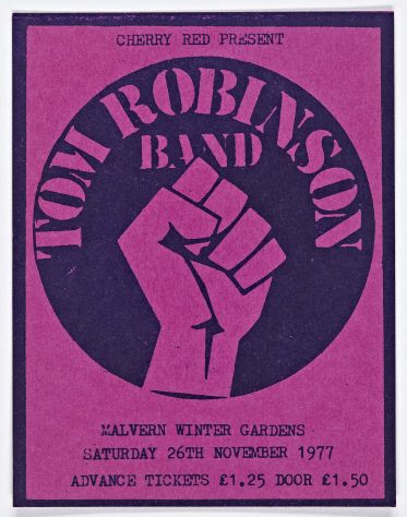 Ticket for The Tom Robinson Band at Malvern Winter Gardens, 26 November 1977