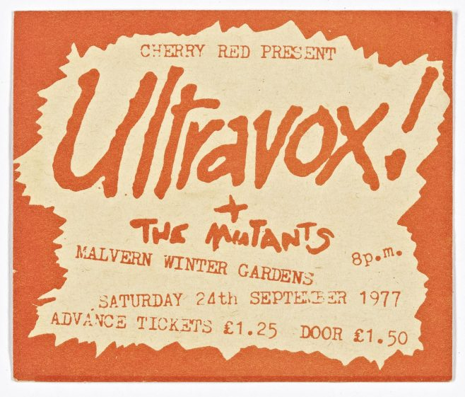 Ticket for Ultravox at Malvern Winter Gardens | Cherry Red Promotions