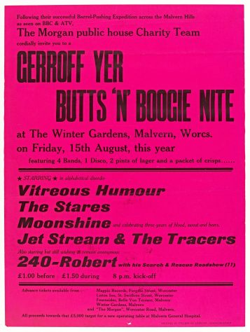 Vitreous Humour, The Stares, Moonshine, 15 August 1980