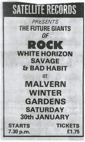 White Horizon, Savage, Bad Habit, 30 January 1981
