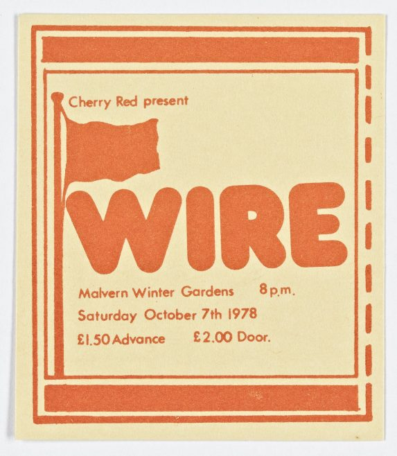 Ticket for Wire at Malvern Winter Gardens | Cherry Red Promotions