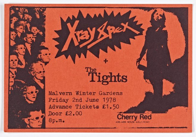 Ticket for X-Ray Spex at Malvern Winter Gardens | Cherry Red Promotions