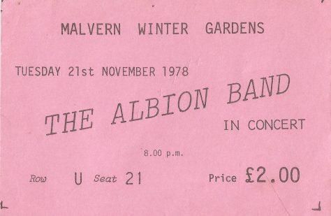 Albion Band, 21 November 1978