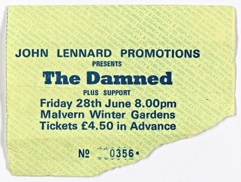 The Damned, Fuzztones, 28 June 1985