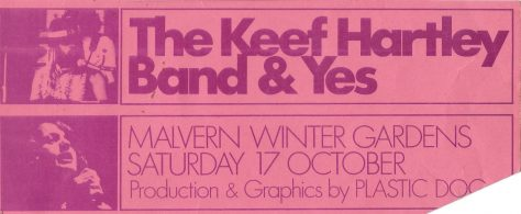 Ticket for Keef Hartley Band, 17 October 1970