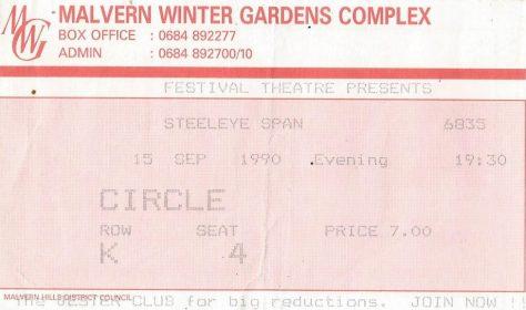Steeleye Span, 15 September 1990