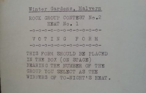 Rock Contest No. 2 (Heat 1), 17 January 1964