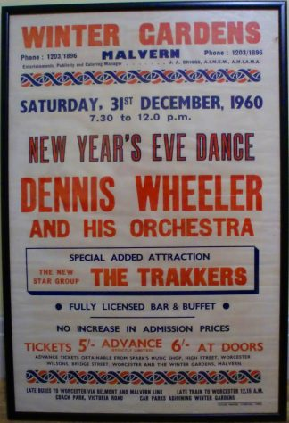 Dennis Wheeler and His Orchestra, The Trakkers, 31 December 1960