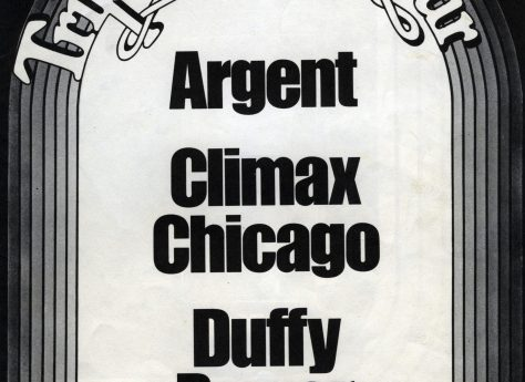 Advertisement for Argent, Climax Chicago Blues Band and Duffy Power tour, 1971