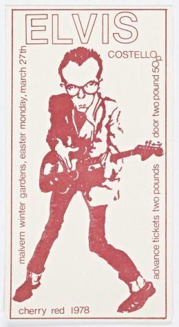 Ticket for Elvis Costello at Malvern Winter Gardens, 27 March 1978