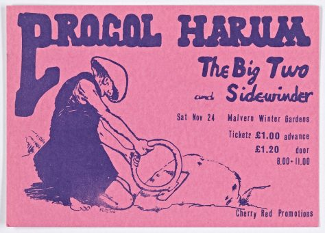 Ticket for Procol Harum at Malvern Winter Gardens, 24 November 1973